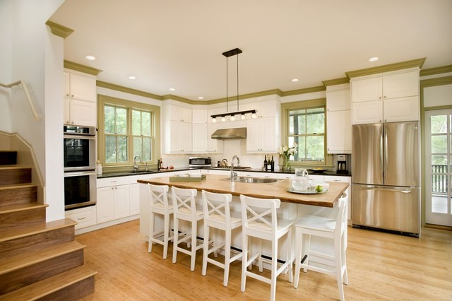 Cali Bamboo Flooring Kitchen Contemporary with Bamboo Flooring Crown Molding
