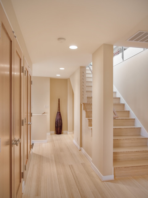 Cali Bamboo Flooring Staircase Contemporary with Alcove Art Baseboards Built