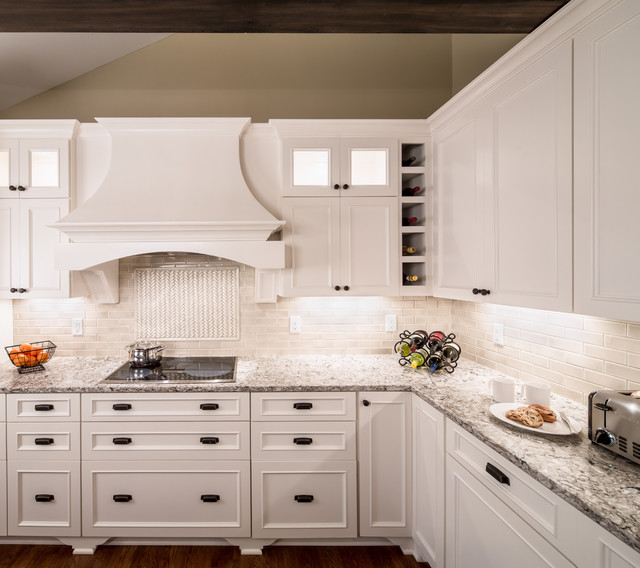 Cambria Countertops Kitchen Transitional with Beige Cabinets Beige Drawers