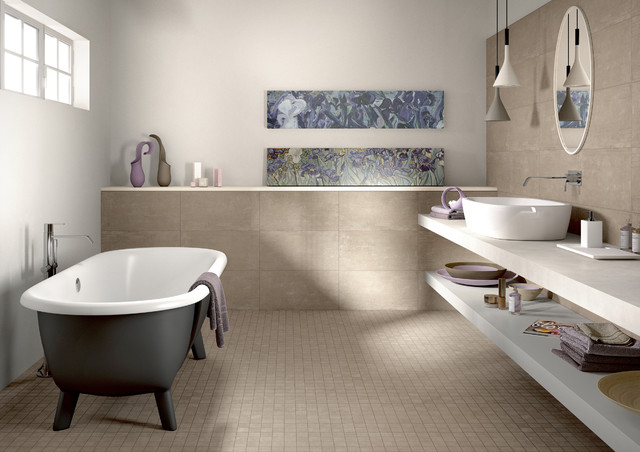 Cancos Tile Bathroom Contemporary with Categorybathroomstylecontemporarylocationnew York