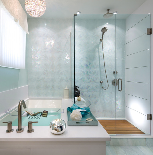 Candice Olson Bathroom Contemporary with Aqua Bath Accessories Candles