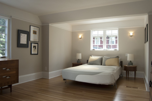 Candice Olson Bedroom Contemporary with Crown Molding Dark Stained