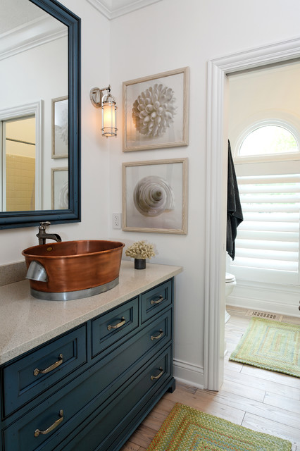 capel rugs Bathroom Contemporary with antique brass pulls arch