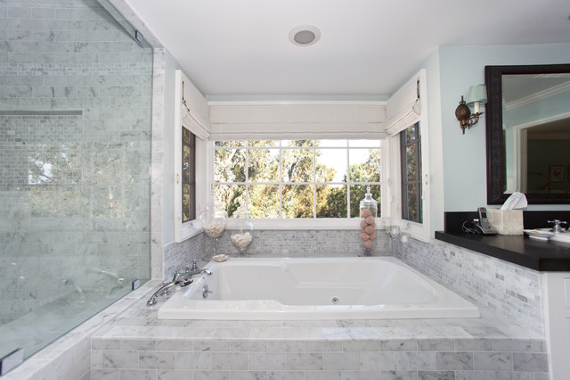 Carrara Marble Tile Bathroom Contemporary with Bathroom Sconces Carrara Marble