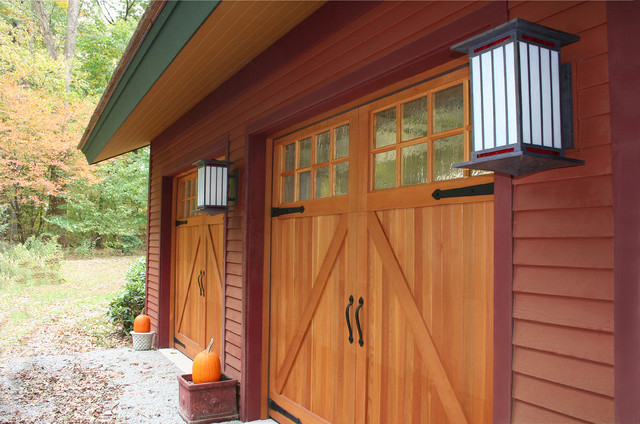 Carriage House Garage Doors Garage and Shed Contemporary with Barn Hinges Carriage Doors
