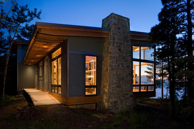 Cb2 Locations Exterior Modern with Cabin Ocean View Overhang