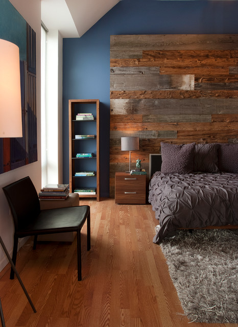 cb2 rugs Bedroom Contemporary with area rug Barnwood Wall