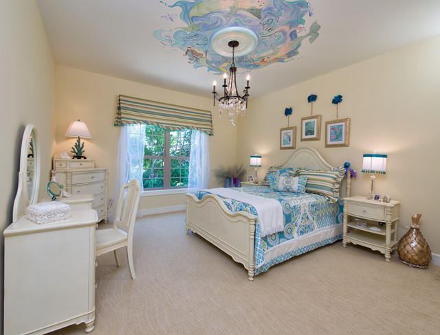 Ceiling Medallions Bedroom Traditional with Bedroom Chandelier Beige Bed