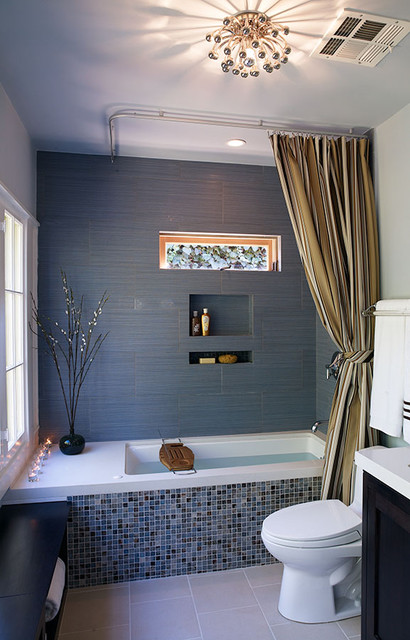 Ceiling Mount Curtain Rod Bathroom Contemporarywith Categorybathroomstylecontemporary