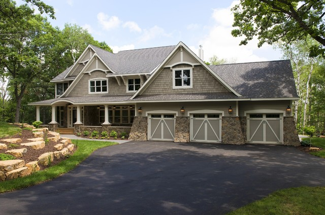 Certainteed Landmark Exterior Traditional with Asphalt Driveway Boulders Carriage