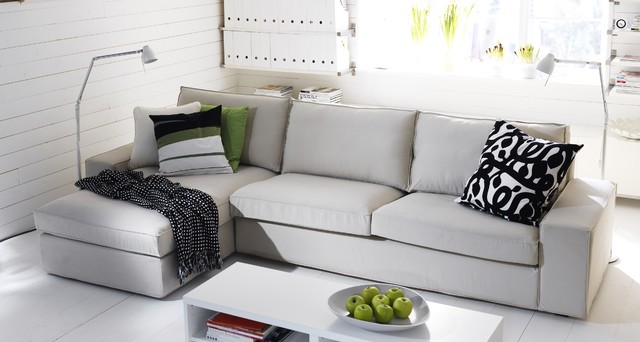 Chaise lounge ikea living room contemporary with categoryliving - Ikea living room modern ...