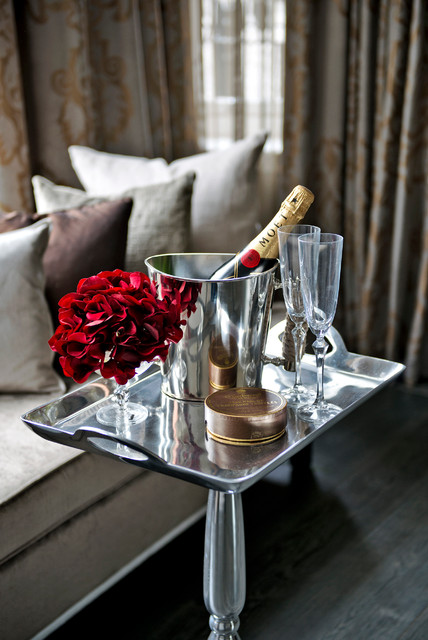 champagne flute Spaces Transitional with Dress to sell furnishing
