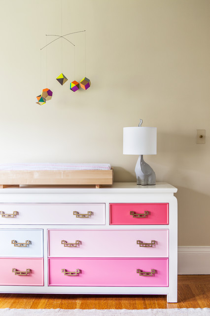 Changing Table Dresser Nursery Transitional with Changing Table Elephant Light