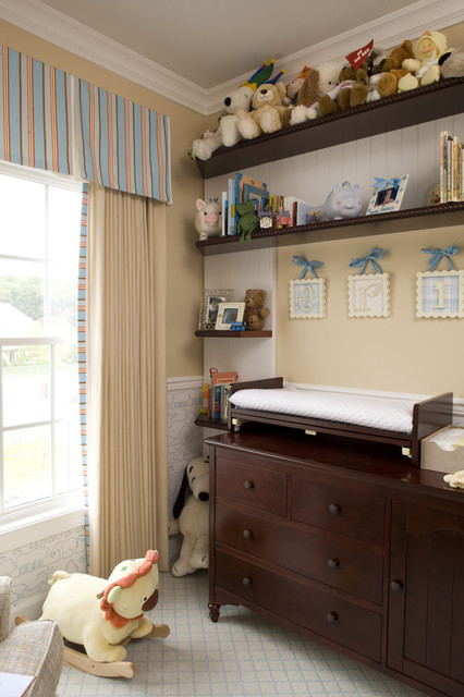 changing table topper Nursery Traditional with beadboard chair rail changing