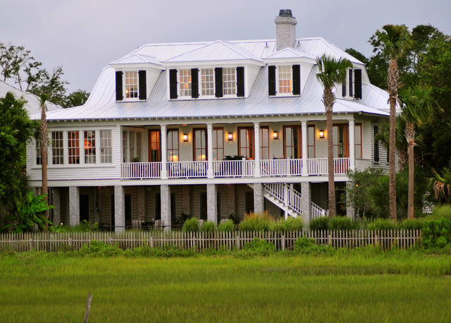 charleston homes omaha Exterior Tropical with balcony balustrade covered balcony