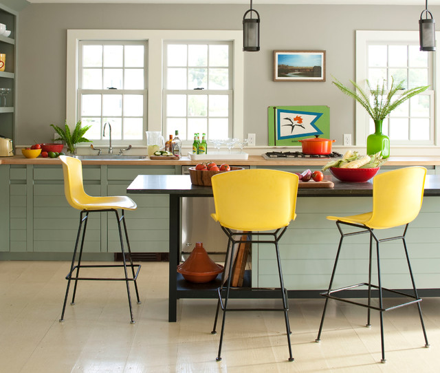 Cheap Barstools Kitchen Contemporary with Black Countertop Black Pendant