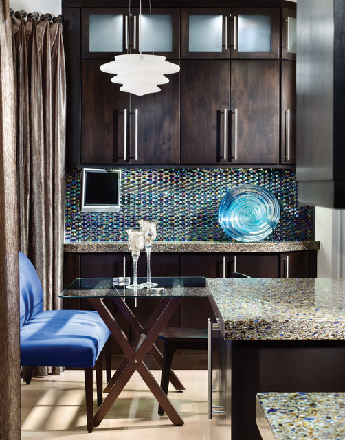 Cheap Granite Countertops Kitchen Contemporary with Beige Floor Bench Seat