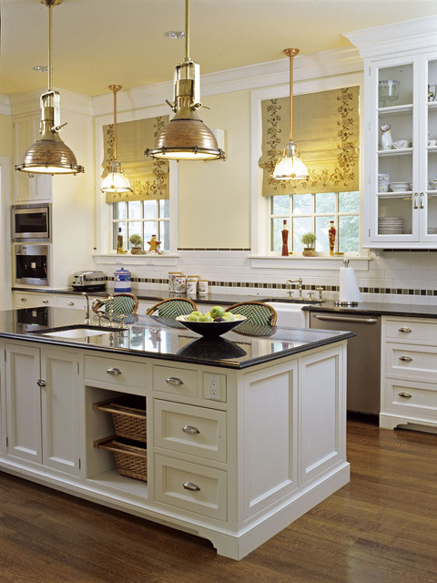 Chelsea Lumber Kitchen Traditional with Accent Tile Baskets Bin