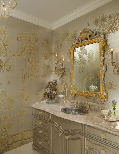 Chinoiserie Chic Powder Room Traditional with Categorypowder Roomstyletraditionallocationdallas