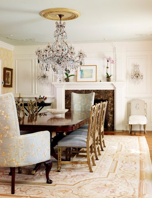 Chippendale Chairs Dining Room Traditional with Ceiling Medallion Chippendale Dining