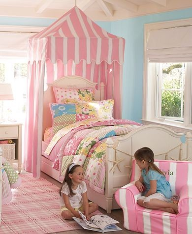 circus tents Kids Traditional with girl pink