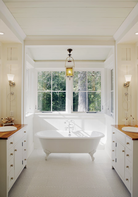 Clawfoot Tubs Bathroom Rustic with Bay Window Clawfoot Tub