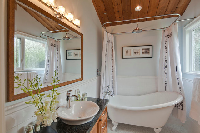 Clawfoot Tubs Bathroom Transitional with Clawfoot Tub Freestanding Bathtub