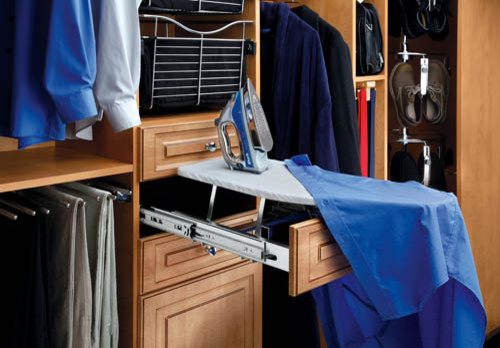 Clothes Valet Closet Contemporary with Closet Cabinetry Closet Cabinets