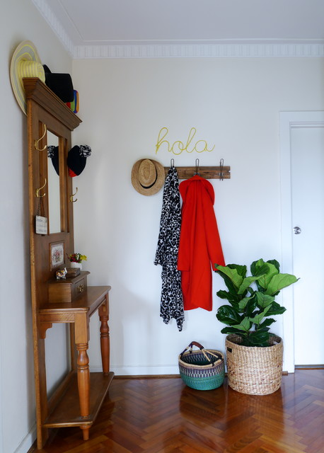 Coat Hanger Stand Entry Transitional with Coat Hanger Crown Molding