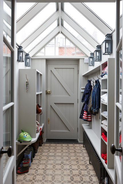 Coat Hanger Stand Entry Transitional with Bathrooms Bespoke Boot Room