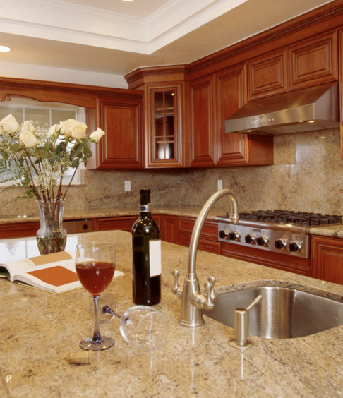 Colonial Cream Granite Kitchen Traditional with Colonial Cream Colonial Cream