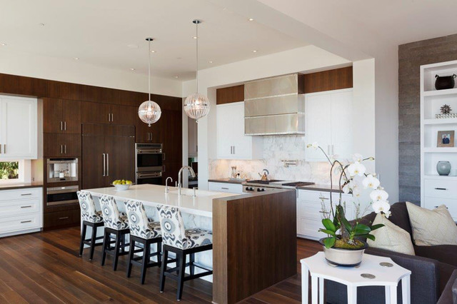 Contract Furnishings Mart Kitchen Contemporary with Contemporary Craftsman Cooktop Counter