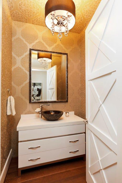 Contract Furnishings Mart Powder Room Contemporary with Chandelier Contemporary Craftsman Drum