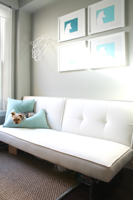 convertible sofa bed Spaces Eclectic with My Houzz