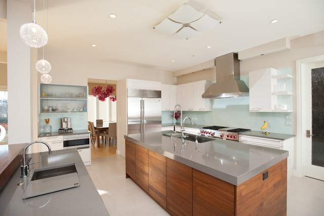 Cost of Quartz Countertops Kitchen Contemporary with Aqua Glass Cambria Cambria