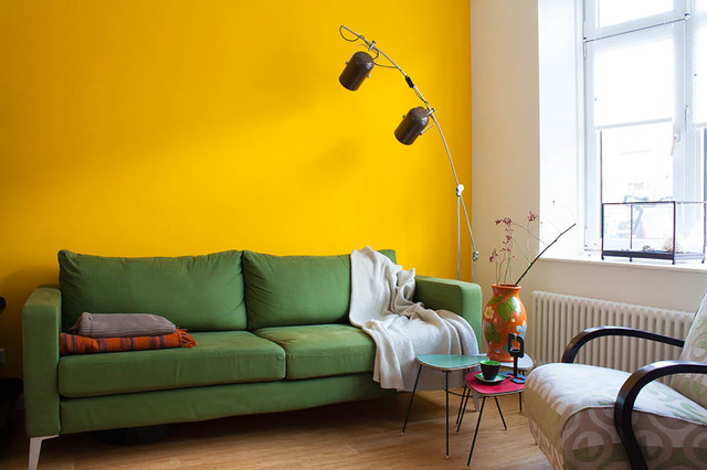 Couches Ikea Living Room Eclectic with My Houzz Yellow Accent2