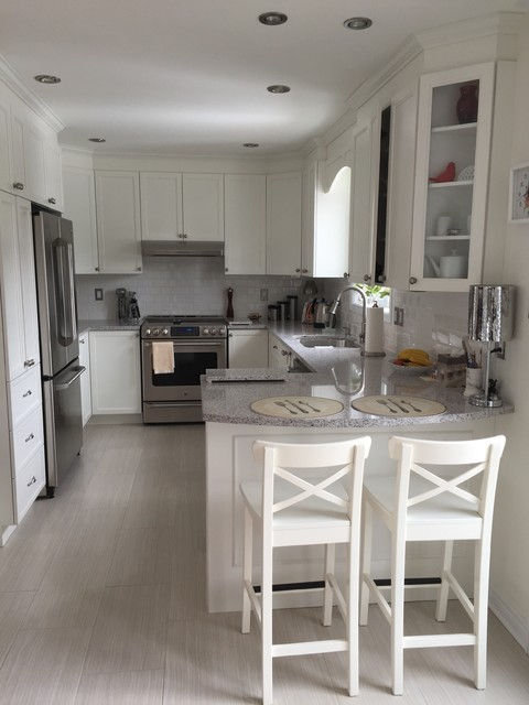 Counter Stools Ikea Spaces Contemporary with Bethel White Granite Cherrywood