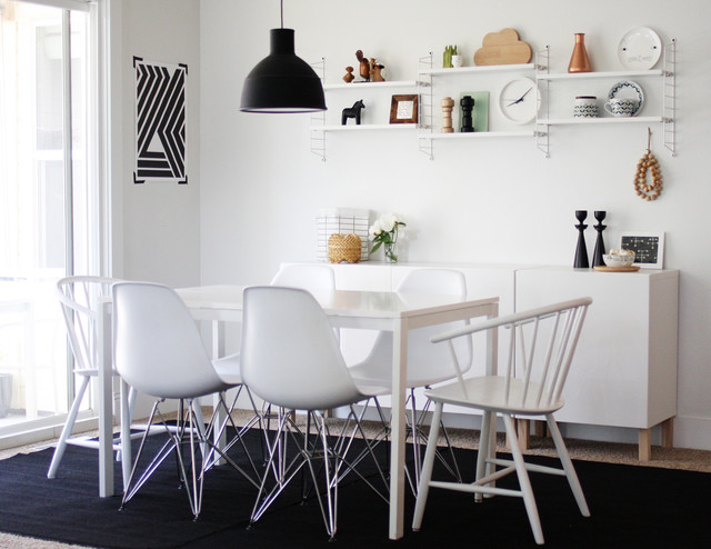 credenza ikea Dining Room Scandinavian with area rug credenza Dining ...