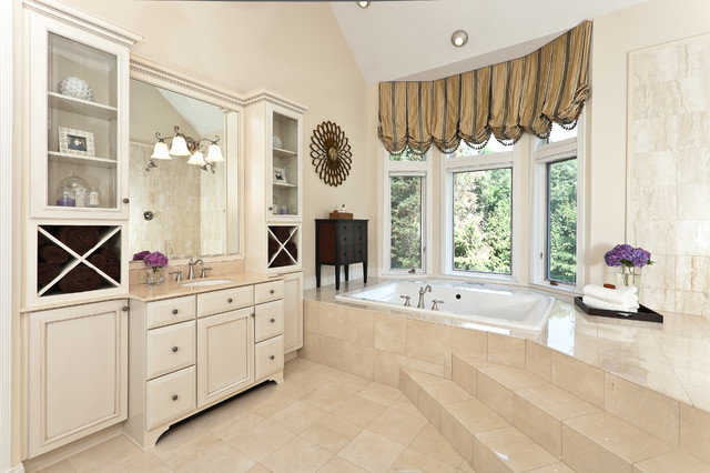 Crema Marfil Marble Bathroom Traditional with Baltimore Interior Decorators Baltimore