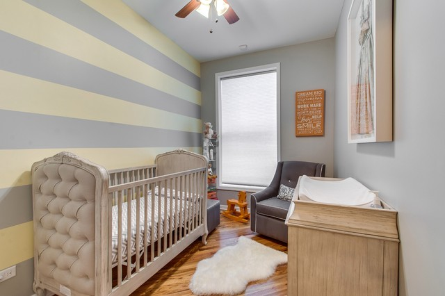 Crib Mattress Pad Nursery Transitional with Beige Crib Ceiling Fan