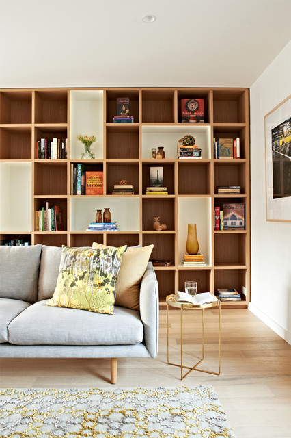 Cube Storage Shelves Living Room Contemporary with Built in Bookshelves Custom