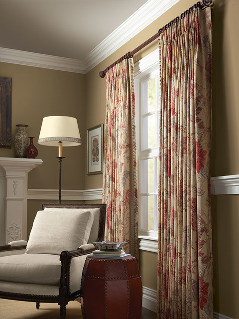 Curtain Rod Finials Living Room Traditional with Beige Curtains with Red