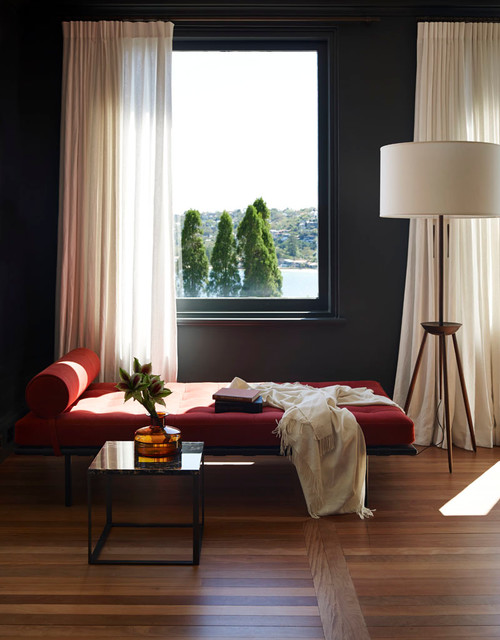 Daybed Frame Living Room Contemporary with Bolster Chaise Curtains Daybed
