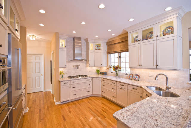 Decora Cabinets Kitchen Traditional with Cottage Chic Neutrals Painted Cabinets1
