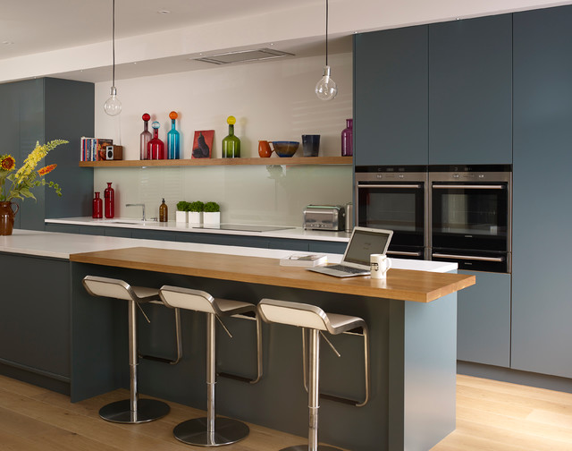 Decorative Shelf Brackets Kitchen Contemporary with Bar Stools Blue And