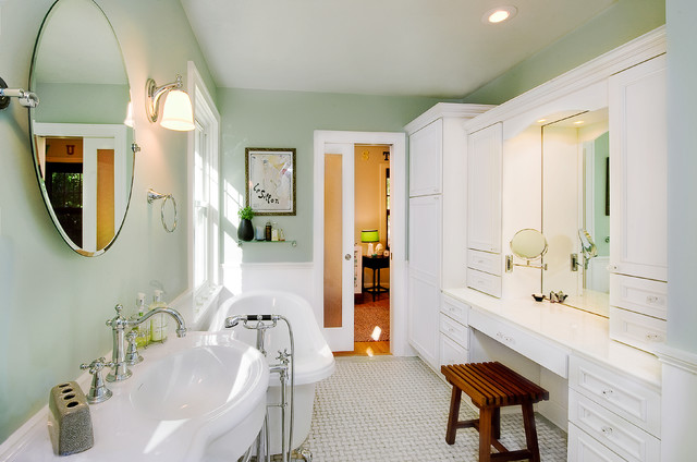 Delta In2ition Bathroom Victorian with Bathroom Storage Built in Cabinets