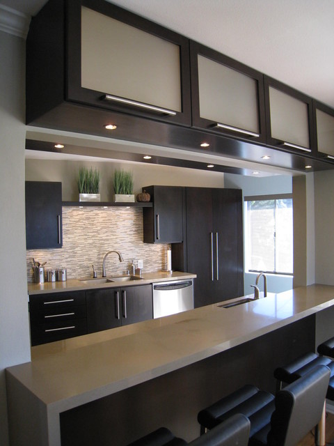 Delta Touch Faucet Kitchen Contemporary with Black Bar Stools Edge