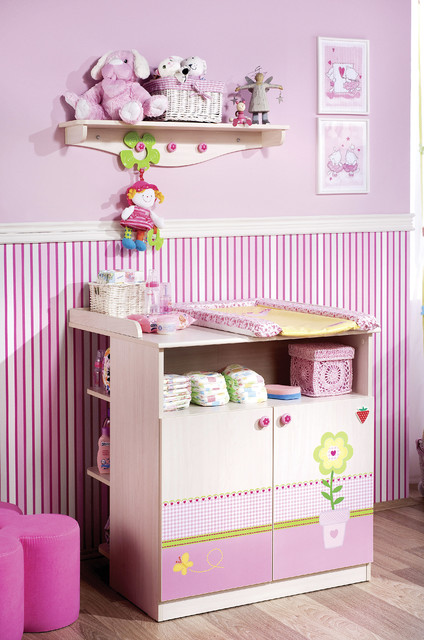 diaper changing station Nursery Modern with baby accessories baby bed