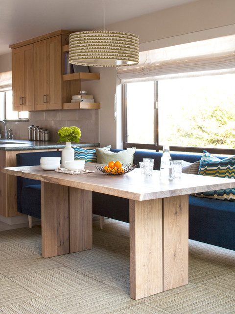 Dining Banquette Dining Room Contemporary with Backsplash Banquette Blue Sofa