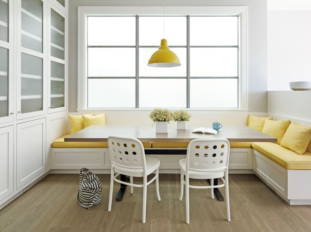Dining Banquette Dining Room Transitional with Banquette Beige Table Built